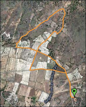 wandeling richting Peñablanca