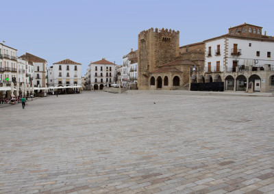 Wandelen in Spanje, Plaza Mayor Cáceres