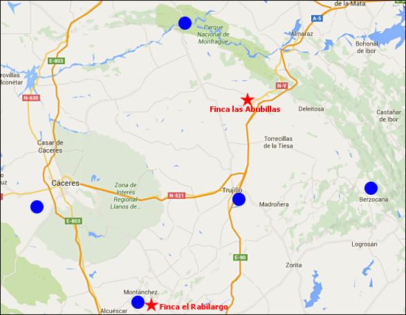 gratis service, Extremadura, wandelen