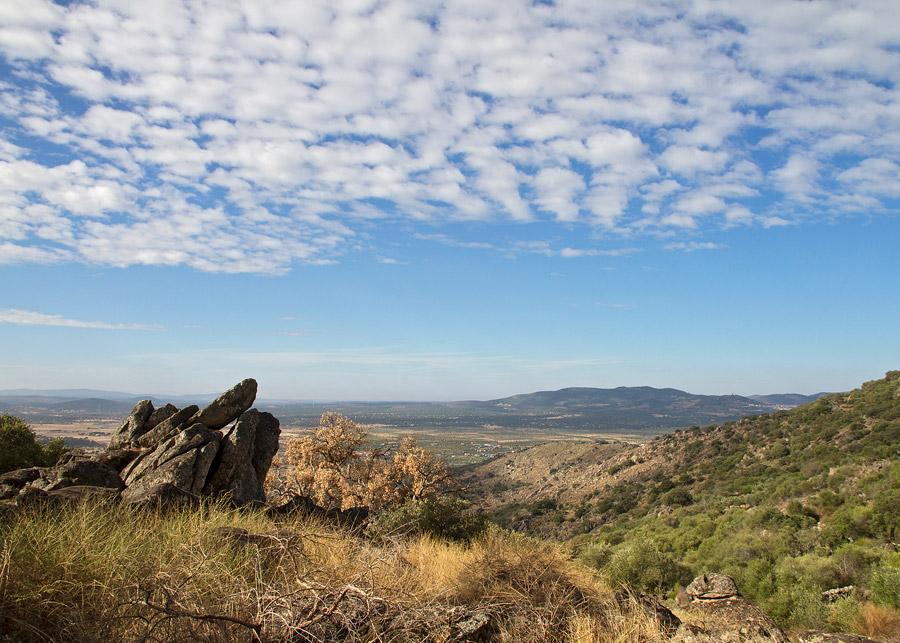 Uitzicht vanaf de Sierra de Montánchez.